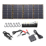 120W 18V Dual USB Sunpower Foldable Solar Panel Battery Charger Kits For Laptop Phone RV Boat Camping