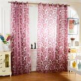 Honana WX-C7 meerdere kleuren Semi-verduisterende vitrages Panel Blind Venster Purple Gordijnen Decor van het Huis
