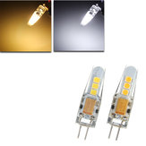 Mini G4 LED Corn Bulb 2W 6 SMD 2835 Silicone Crystal Lamp Light DC12V