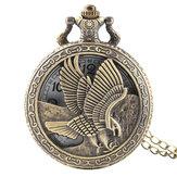 DEFFRUNВинтажEagleКрыльяШаблонКварцевые карманные часы