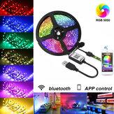 5 V USB LED Şerit Işıklar 5050 RGB Bluetooth APP Kontrol Dim TV Arka Aydınlatma Akıllı Şeritler