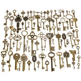 90pcs Antique Vintage Old Ornate Skeleton Keys Lot Pendant Fancy Heart Decorations Gifts