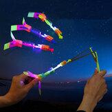 Удивительная игрушка LED Flash Резина Стандарты Вертолет Самолет Игрушка для детей