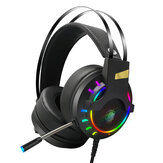 LUYS K3 Game Hoofdtelefoon 7.1-kanaals 3.5mm USB Wired Bass RGB Gaming Headset Stereo Sound Headset met Mic voor PS4 Computer PC Gamer