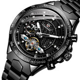 FORSINING FSG8204 Fashion Men Automatic Watch Luminous Display Waterproof Stainless Steel Strap Mechanical Watch