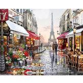 DIY Olieverf Door Getallen Kits Parijs Straat Landschap Wall Art Canvas Foto Nummers Home Decor Art Supplies
