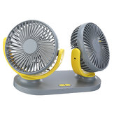 24V Mini Dual-Head Fan Car Van Home Silent Cooler Cooling Fan USB Rechargeable Outdoor Camping Travel