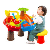Children Sand Water Table Set Outdoor Beach Play Toys Sand Kids Bucket Shovel Chair Sand Pit Table