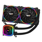 DarkFlash DT240 Water Cooling Fan Liquid Cooler RGB Radiator with 120mm Computer  PC Case Fan CPU Cooler for Intel LGA 775/ 115x/ 1366/ 2011 AMD AM4/ FM2/ FM1