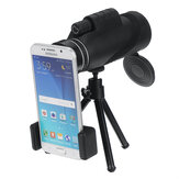 Telescópio monocular 10X HD Outdoor Telescope Lens Telescope Night Vision Tripod Phone Clip