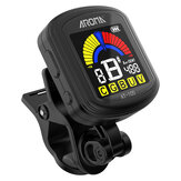 Aroma AT-105 Guitarra Recargable Clip-on Tuner Pantalla en color para guitarra cromática Bajo Ukelele Violín