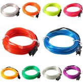 3M EL Led Flexible Soft Tube Wire Neon Glow Car Rope Strip Light Xmas Decor DC12V