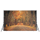 7x5ft Autumn Forest Background Fotografia Fotografia de Estúdio Foto Pano de Vinil