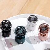 Mini Çok fonksiyonlu Asılı Boyun Soğutma Fanı Taşınabilir Outdoor Asılı Bel Fan Masaüstü Hava Soğutucu 3 Dişli Rüzgar Hızı 1000mAh Batarya Ömrü