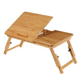 Wooden Laptop Desk Portable Folding Desk 2 Working Separated Areas Sofa Bed Notebook Stand Study Table