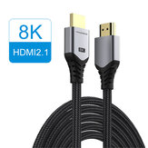 HAGIBIS HDMI 2.1 Video Cable 8K/60Hz 4K/120Hz 48Gbps High Speed Digital Cables for HDTVs PS5 Switch XBox Projectors