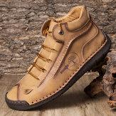 Menico Мужчины Резиновый Носок Ручной Шить Кожа Без Скольжения Soft Подошва Лодыжки Ботинки