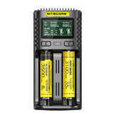 NITECORE UM2/UM4 LCD Display 5V/2A Lithium Battery Charger USB QC Smart Rapid Charger For AA AAA 18650 21700 26650