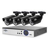 Hiseeu 4 PCS 4MP Sistema de Câmera de CCTV Ao Ar Livre 8CH AHD DVR Sistema De Vigilância De Segurança De Vídeo Kit