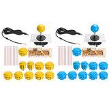 Kit di gioco per controller di gioco Jostick blu Dual Arcade giallo blu per PC