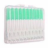 40pcs Interdental Tween Floss Brush Elastic Massage Gum Tandenstoker
