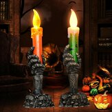 Halloween Light Flameless Plastic Candles Halloween Decoration Props Ghost Light