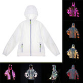 Batterie Powered LED Colorful Veste de manteau de couple de vêtements lumineux de costume pour la danse de partie de partie
