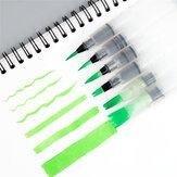 WG2019-6 6 pçs / set Tinta portátil Escova Aquarela Escova Lápis Soft Escova Caneta para iniciantes Pintura Desenho Arte Materiais