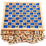 Matematica Montessori materiale bambino che impara numero educationa legno 1 a 100