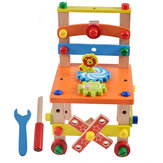 DIY Creative Toy Multi-function Nut Disassembly Combination Toy Wooden Chair