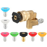 High Pressure Washer Spray Nozzle Variety Degrees 1/4 Inch Adjustable Quick Connect