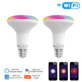 MoesHouse E27 13W WiFi Smart luce a led Lampadina dimmerabile RGB C + W lampada APP Smart Life Tuya Lavora con Alexa Google Home