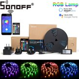 SONOFF L1 Dimbaar IP65 2M 5M Smart WiFi RGB LED Strip Light Kit Werk met Amazon Alexa Google Home Kerstversiering Opruiming Kerstverlichting