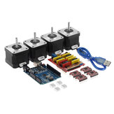 TWO TREES® CNC Shield + UNO R3 Board + 4x A4988 Step Motor Driver + 4x 4401 Step Motor Kit 3D Yazıcı için