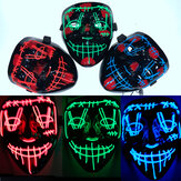 Cosmask Halloween Led Mask Party Masque Masquerade Masks Neon Maske Light Glow In the Dark Horror Mask Glowing Mask