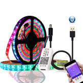 DC5V 1M 2M WS2812B 5050 bluetooth USB APP Control RGB LED Addressable Light Kit Secara Individual