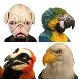 Halloween Eagle Simulation Animal Bulldog Parrot Headgear Mask