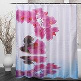 180*200смВаннаякомнатаЗанавеска для душа Фиолетовый цветок Водонепроницаемы Занавеска для ванны