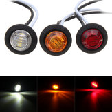 12V 3/4inch Indcator Turn Signal Lights For Boat Truck Trailer Round Side LED Marker