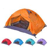 आउटडोर 2 व्यक्ति कैम्पिंग तम्बू डबल परत पु 4000 निविड़ अंधकार चंदवा सनशाडे