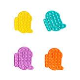 Novos bonecos multicoloridos Fidget Push Bubble Sensorial Engraçado Aliviador de estresse Educação Puzzle Fidget Toy para Adultos Crianças Presentes criativos