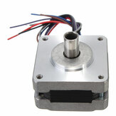 4Pcs 39MM Hollow Shaft Hybrids Stepper Motor 4 Phase 5 Wire Square 1.8 Degrees Stepper Motor