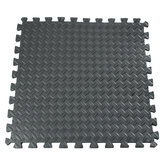 61x61cm EVA Foam Floor Interlocking Fliesenmatte Show Floor Gym Übungsspielzimmer Yoga Mat Black
