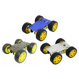 Upgraded Blue/Black/Sliver C101 4WD Smart Chassis Car Kit for -UNO-R3 with Metal Panel/65mm Wheels/4Pcs TT Motor