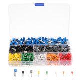 Excellway® 800 PCS Connectors Terminal with Adjusting Ratchet Crimping Pliers Crimper Tool Kit