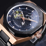 GMT1189 Classic Full Metal Pria Jam Tangan Gaya Bisnis Self-winding Mechanical Watch