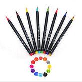 Conjunto de Canetas Marcadoras de 20 Cores Desenho em Aquarela Escova Desenho do Artista Caneta Marcadora Mangá Arte Colorida para Materiais Escolares