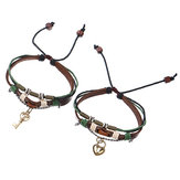 Sweet 1 Pair serratura e bracciale con ciondolo Key Lover's Couple