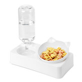 Automatic Non-Slip Cat Elevated Cervical Spinal Bowls Pet Double Bowl for Feeding Container