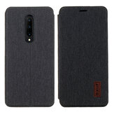 Bakeey Flip Shockproof Fabric Soft Silicone Edge Full Body Protective Case For OnePlus 7 PRO